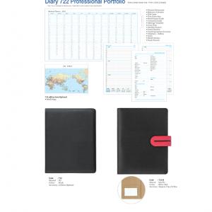 722-B Diary Professional Portfolio