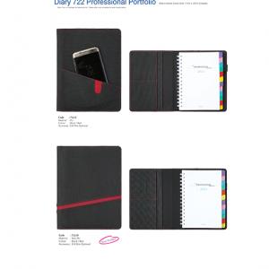 722C-D Diary Professional Portfolio