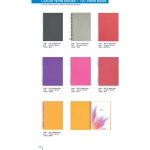 701 Colour Note Book