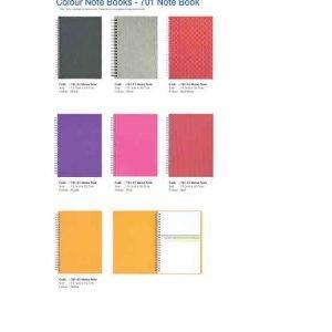 701 A5 Colour Note Book