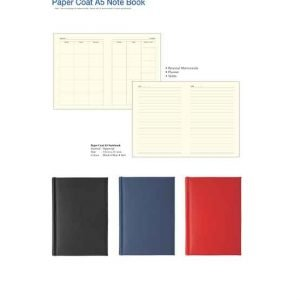 A5 Paper Coat Note Book